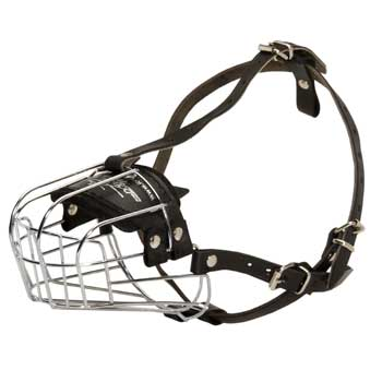 Wire Cage Muzzle for Training Dog Working Dogs